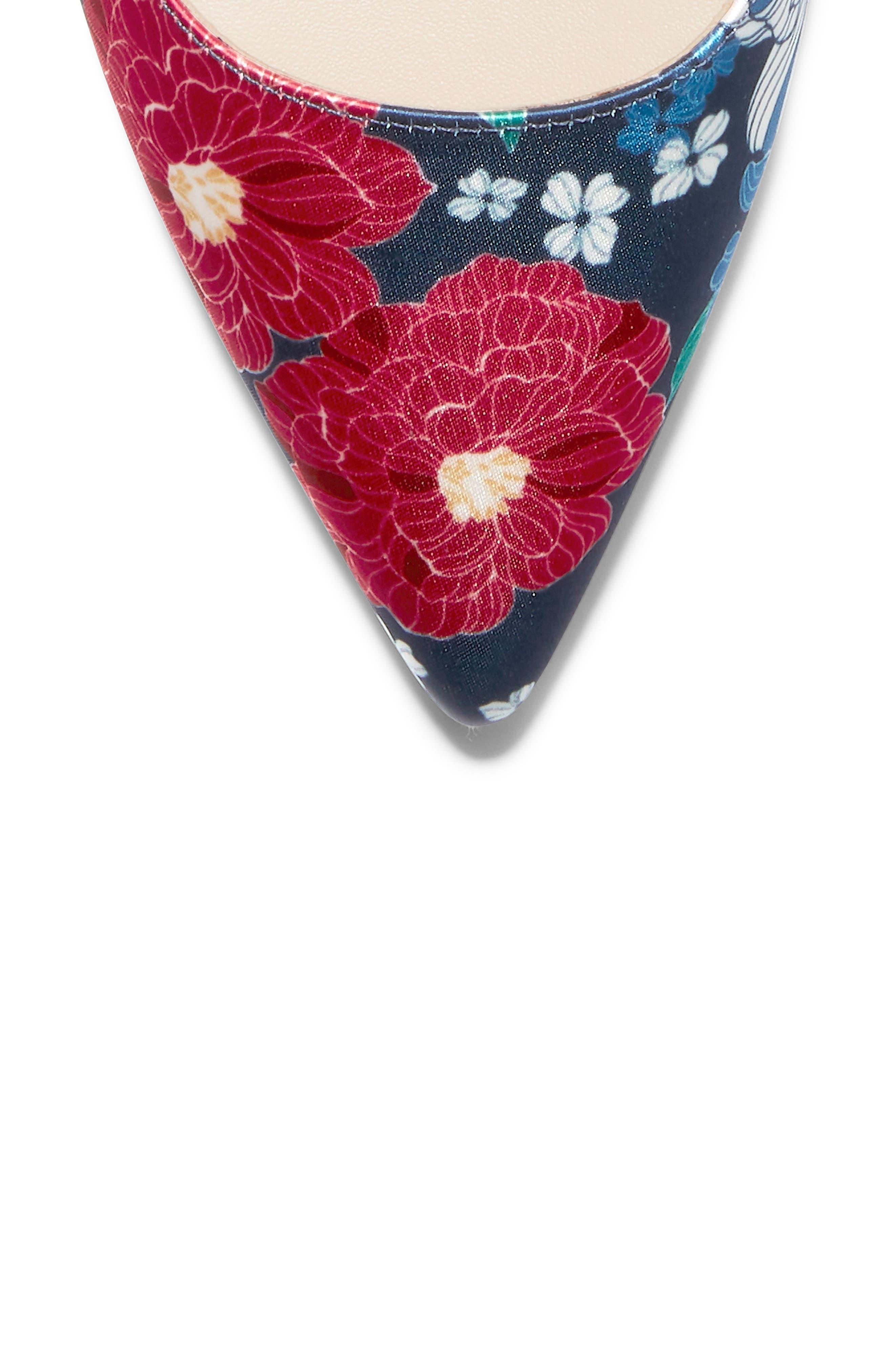 ,                             Vesta Slingback Pump,                             Alternate thumbnail 7, color,                             FLORAL PRINT FABRIC