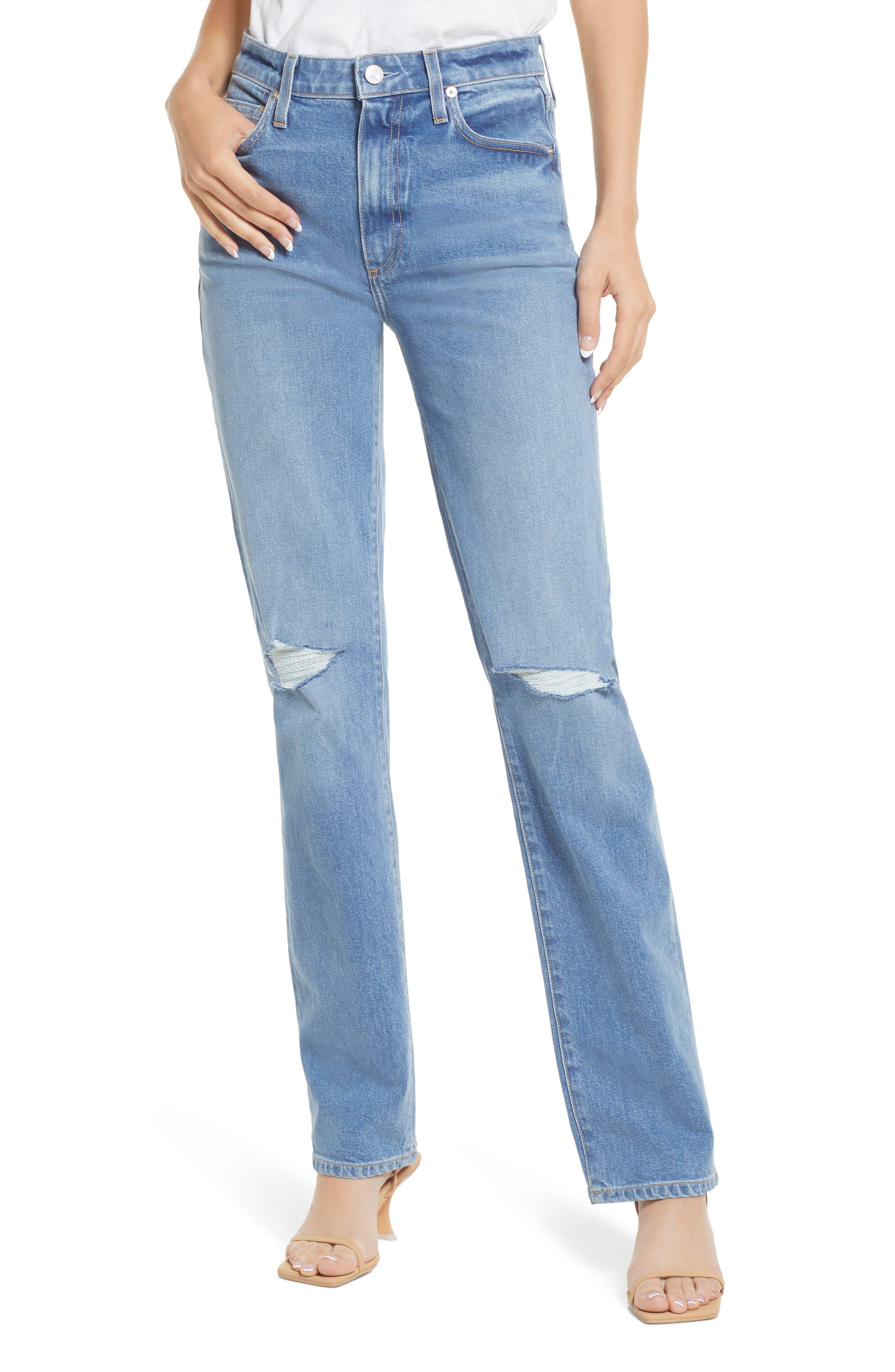 Sabine Ripped Straight Leg Jeans