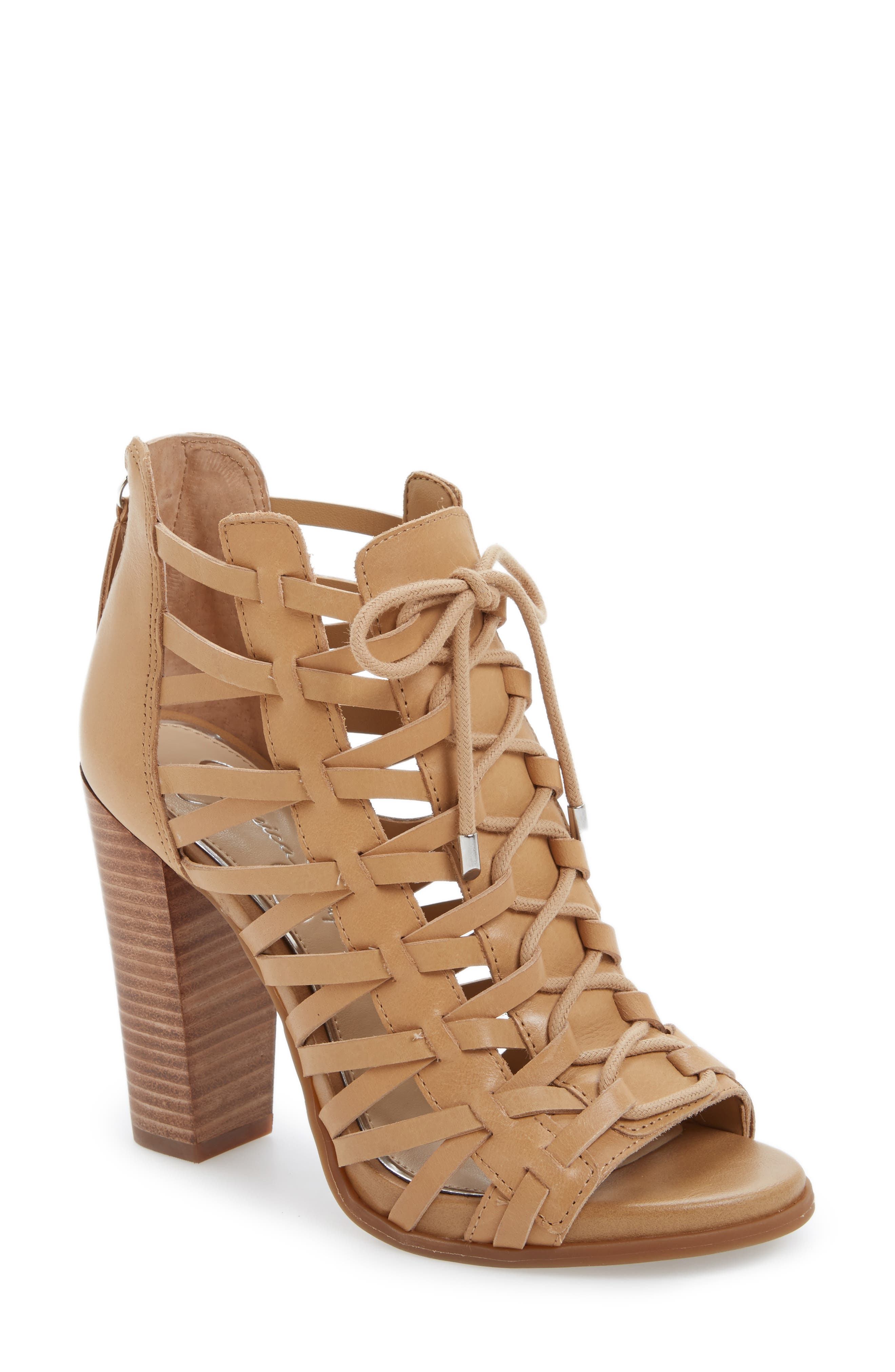 Riana Lace-Up Bootie, Main, color, 200