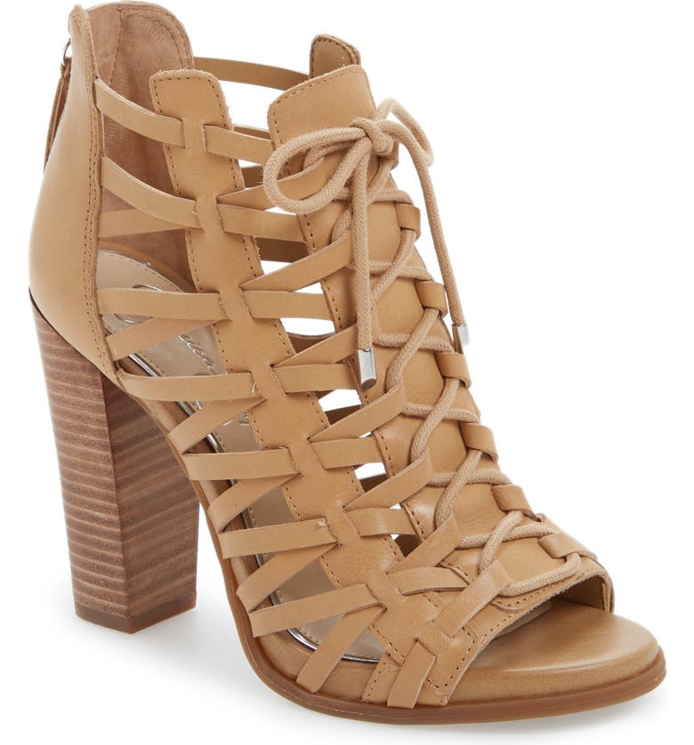 JESSICA SIMPSON Riana Lace-Up Bootie, Main, color, 200