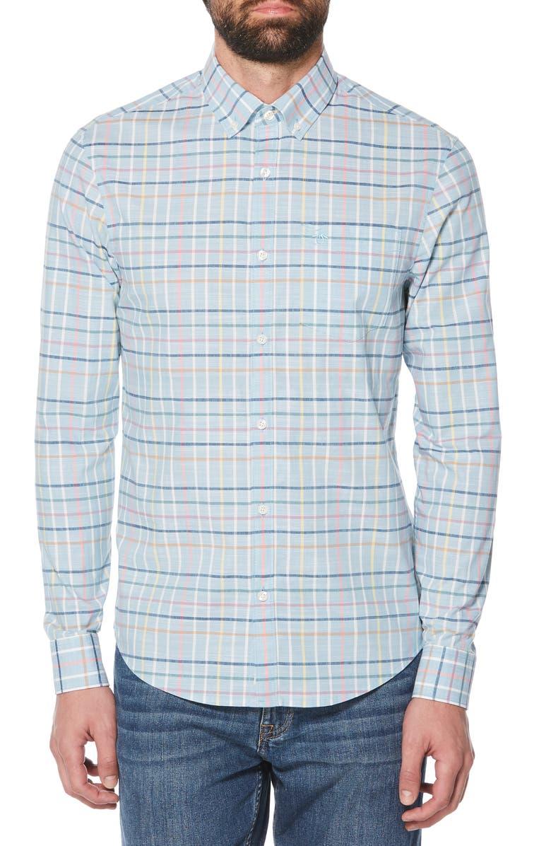 ORIGINAL PENGUIN Roadmap Check Shirt, Main, color, 437
