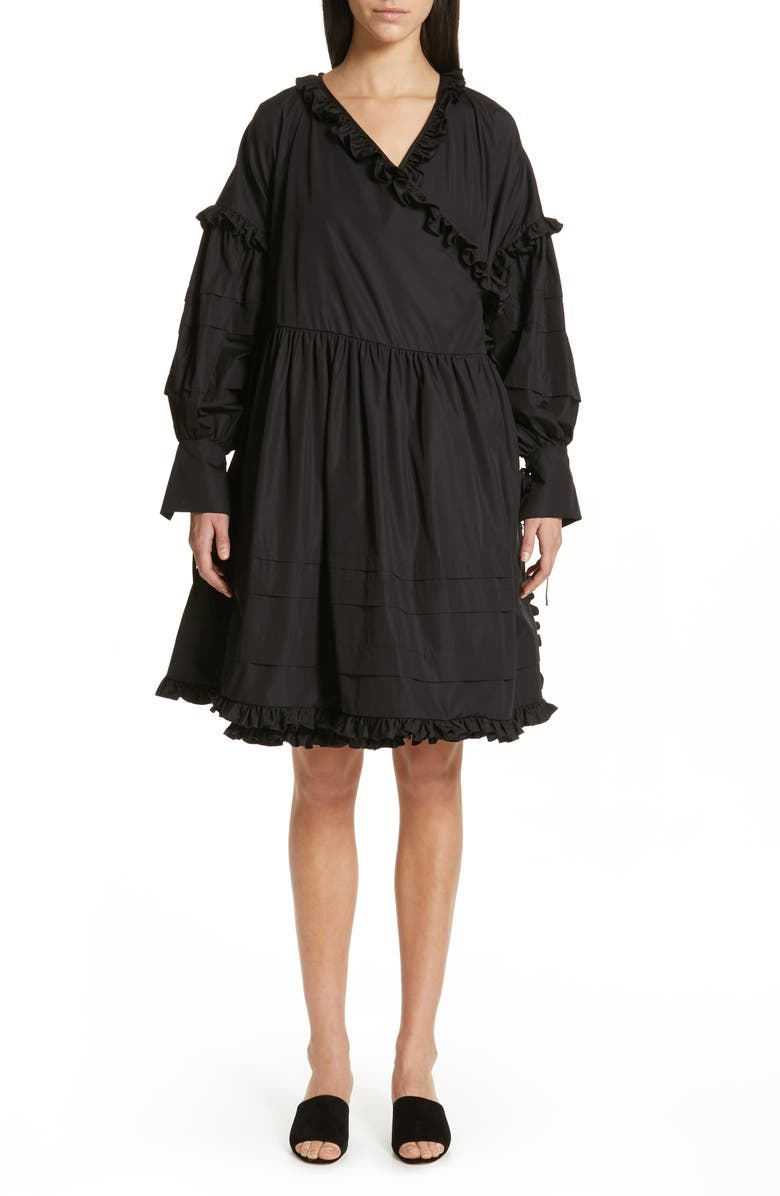 CECILIE BAHNSEN Paulina Wrap Dress, Main, color, 001