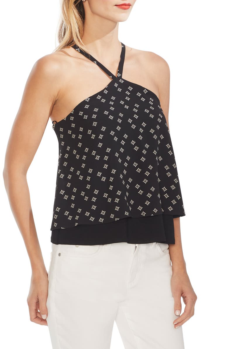 Playful Foulard Overlay Halter Top by Vince Camuto