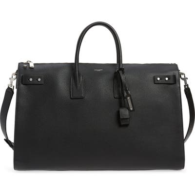 Saint Laurent Sac De Jour - 48 Hour Leather Duffel Bag - Black