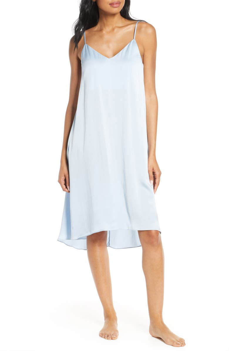 PAPINELLE Silk Nightgown, Main, color, PALE BLUE