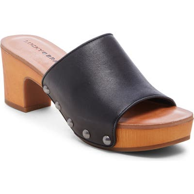 Lucky Brand Fineena Clog Slide Sandal- Black