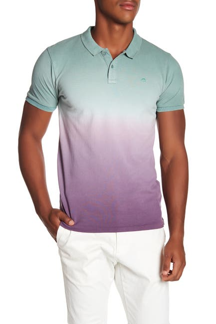 Image of Scotch & Soda Classic Dip Dyed Pique Polo