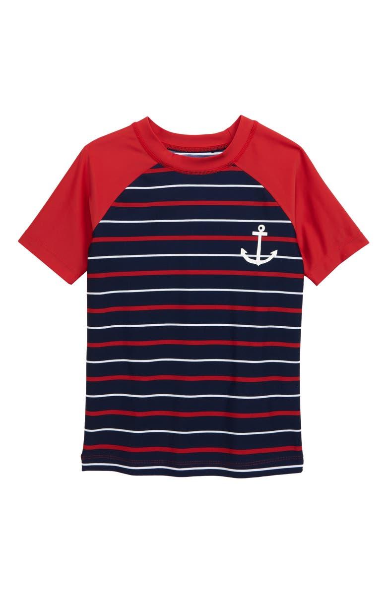 HATLEY Anchor Nautical Stripe Rashguard, Main, color, BLUE