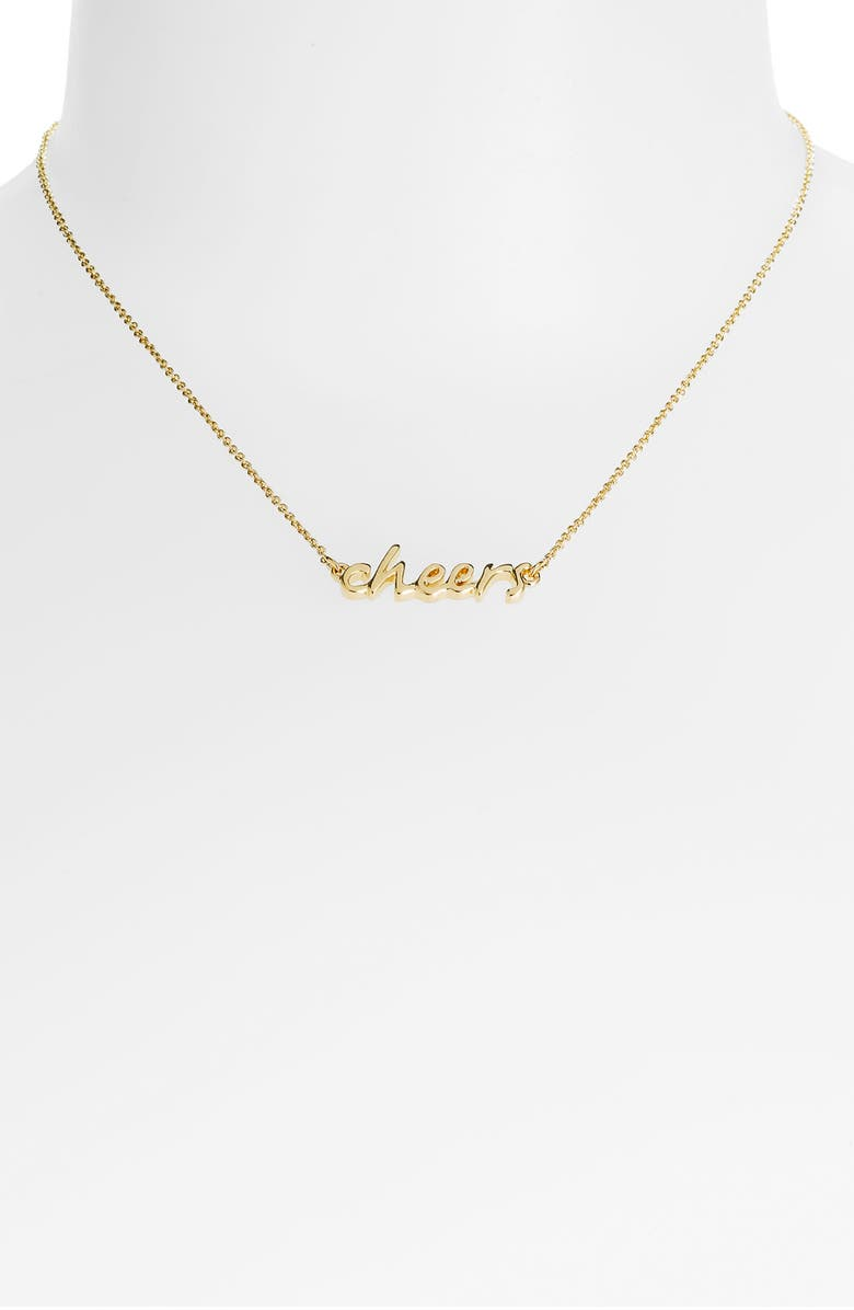 KATE SPADE NEW YORK 'say yes - cheers' necklace, Main, color, 710