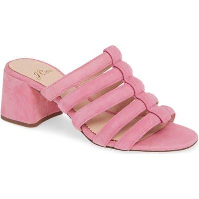 J.crew Penny Strappy Suede Slide Sandal- Pink