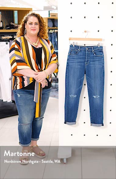 Josefina High Waist Ripped Crop Jeans, sales video thumbnail