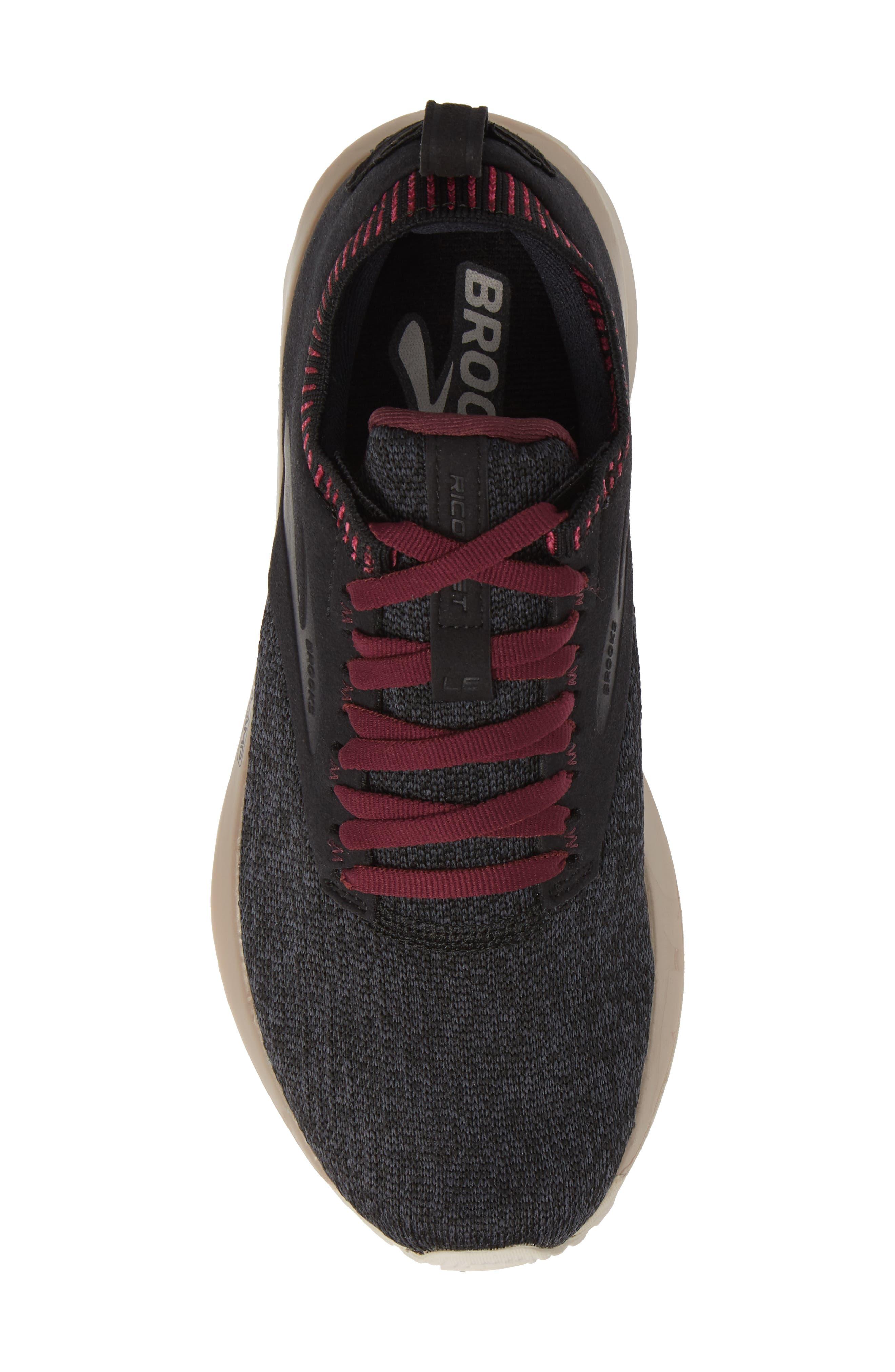 ,                             Ricochet LE Running Shoe,                             Alternate thumbnail 5, color,                             BLACK/ GREY/ PINK