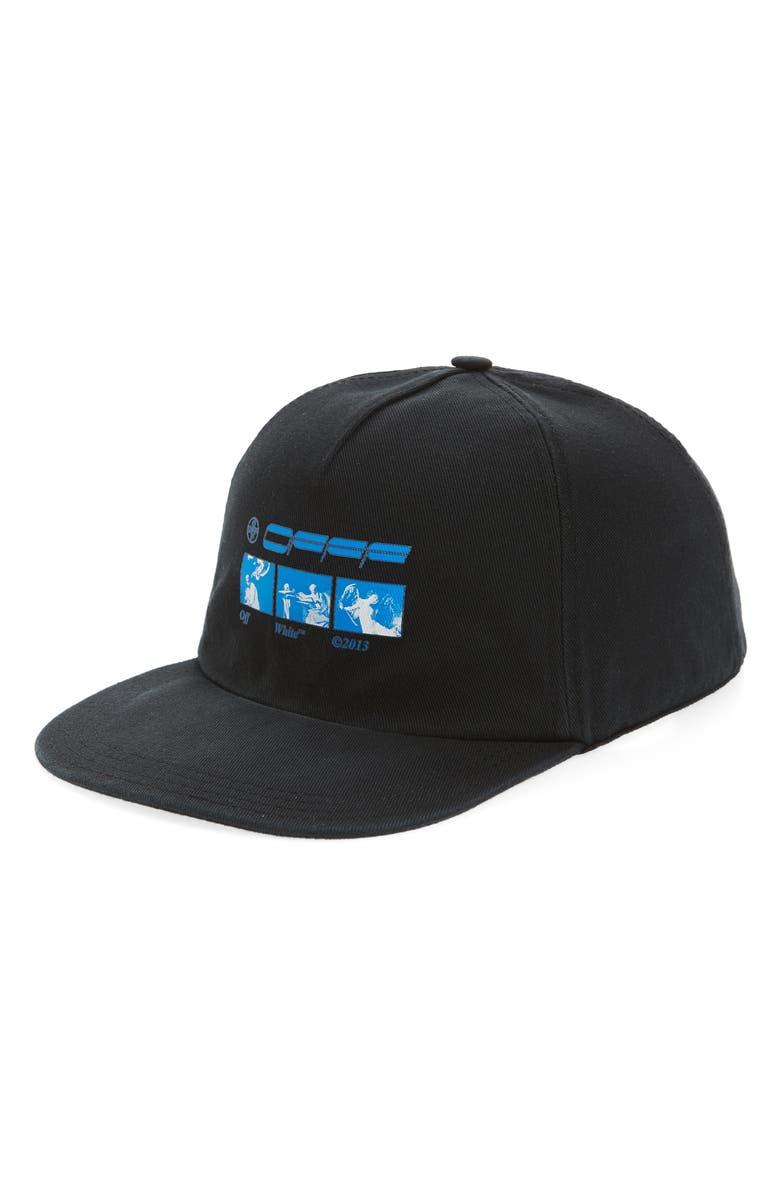 OFF-WHITE Hardcore Carav Baseball Cap, Main, color, BLACK BLUE