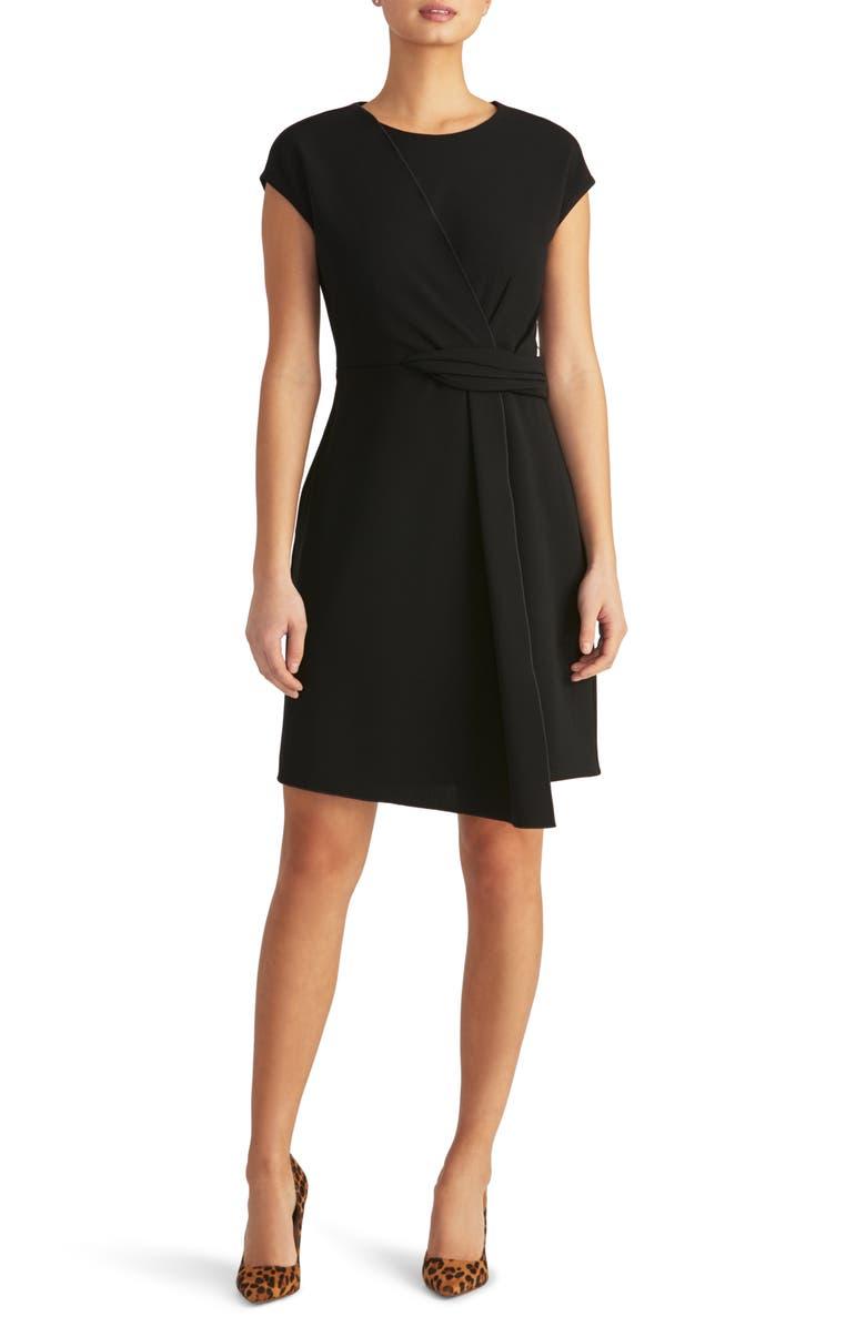 RACHEL ROY COLLECTION Asymmetrical Twist Knit Dress, Main, color, 001