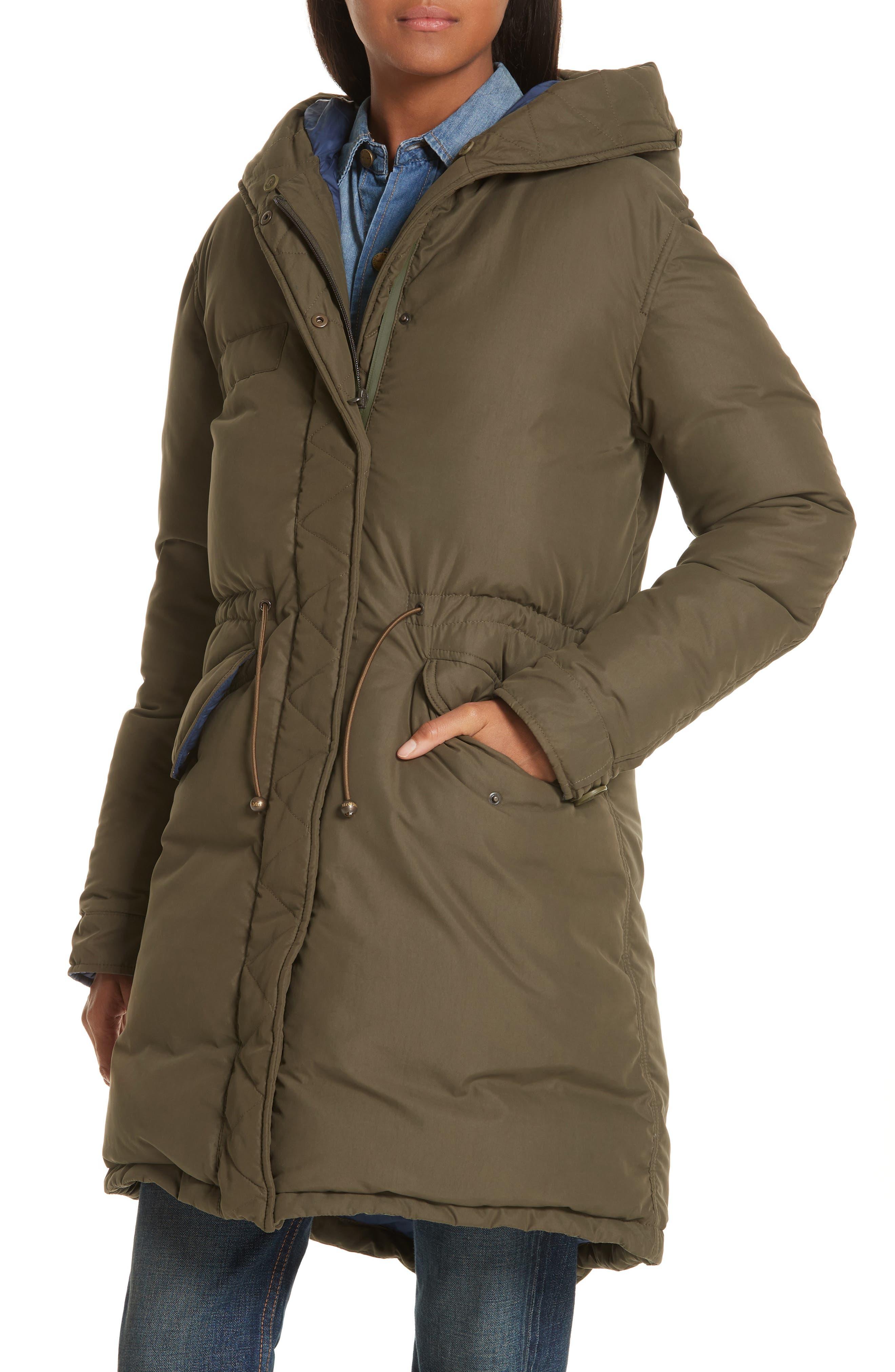 ,                             Genuine Fox Fur Trim Down Puffer Coat,                             Alternate thumbnail 2, color,                             300