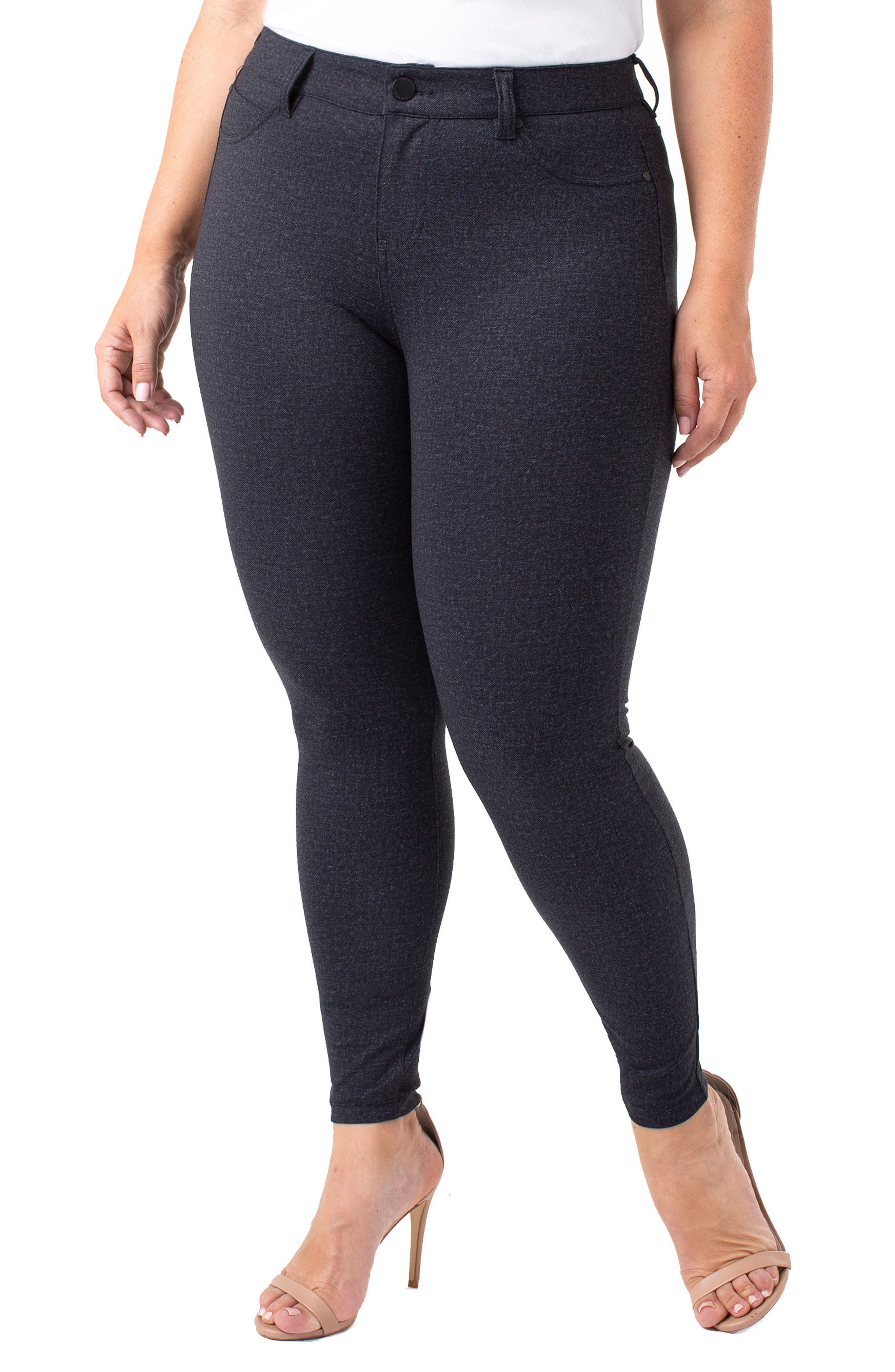 Plus Size Liverpool Madonna Leggings, Grey
