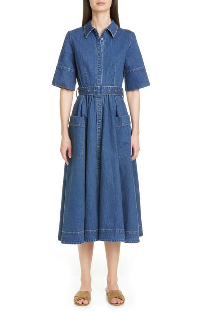 Co DENIM MIDI SHIRTDRESS