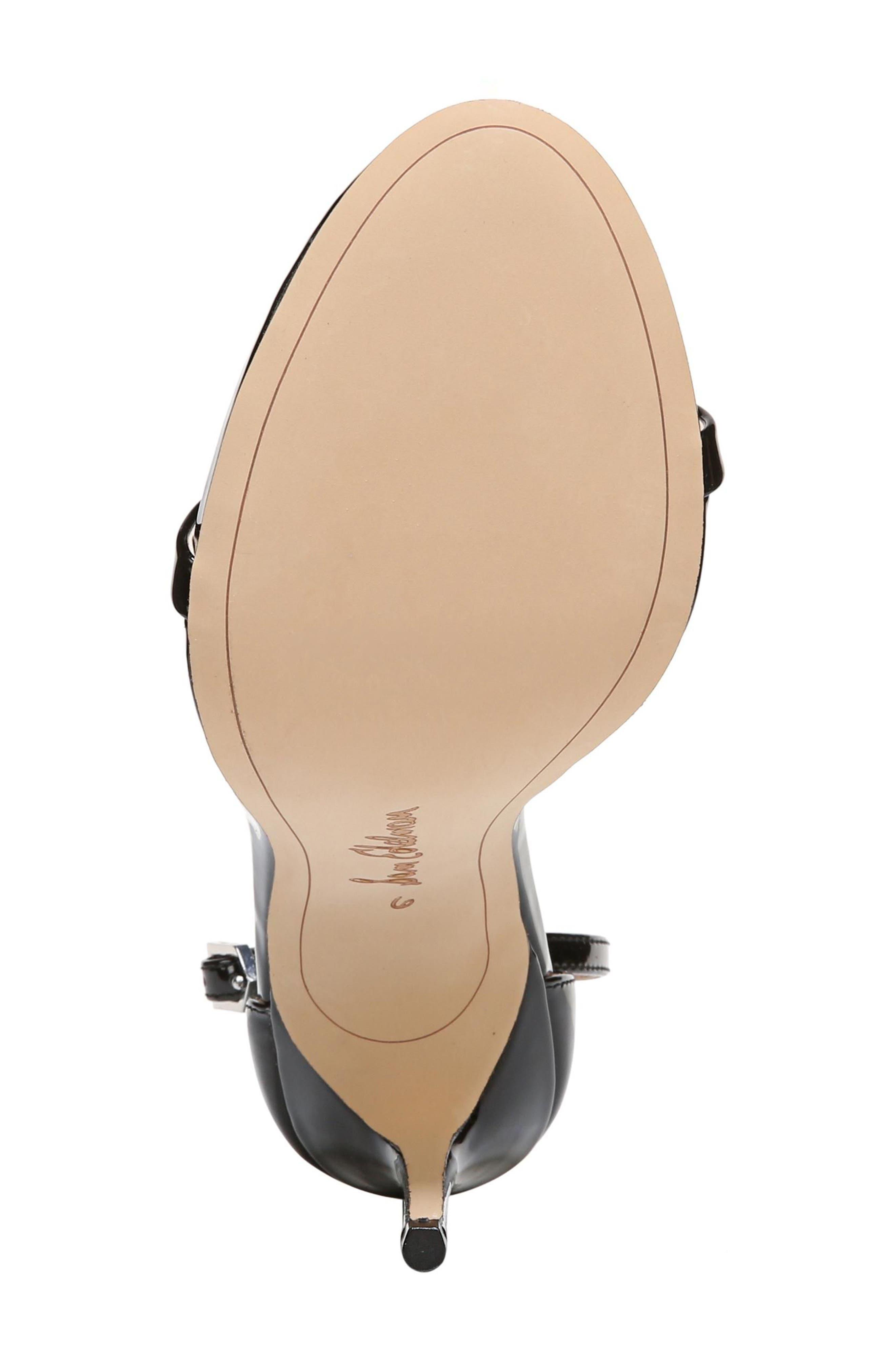 ,                             Ariella Ankle Strap Sandal,                             Alternate thumbnail 6, color,                             BLACK PATENT LEATHER