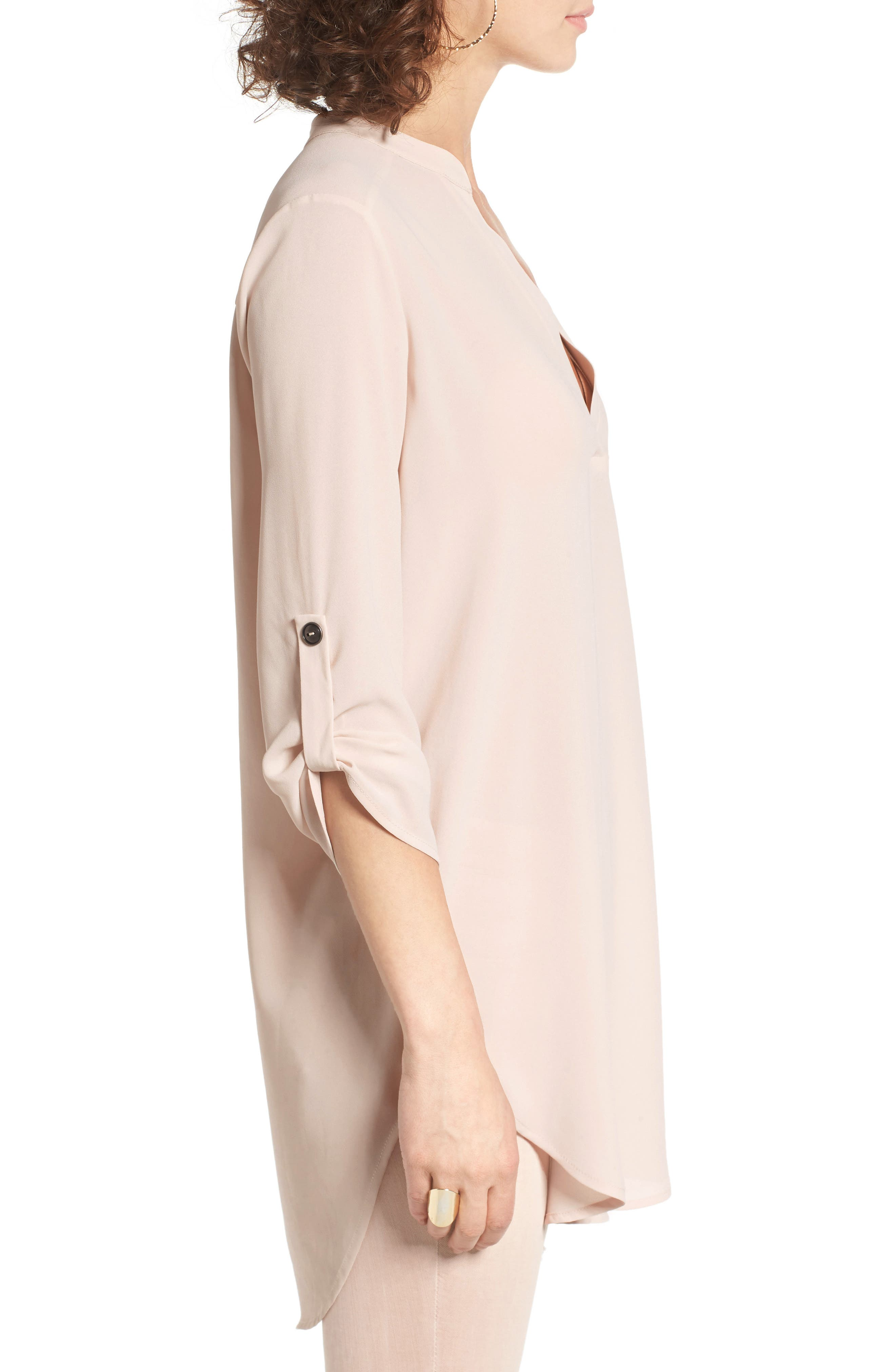 ,                             Perfect Roll Tab Sleeve Tunic,                             Alternate thumbnail 401, color,                             698