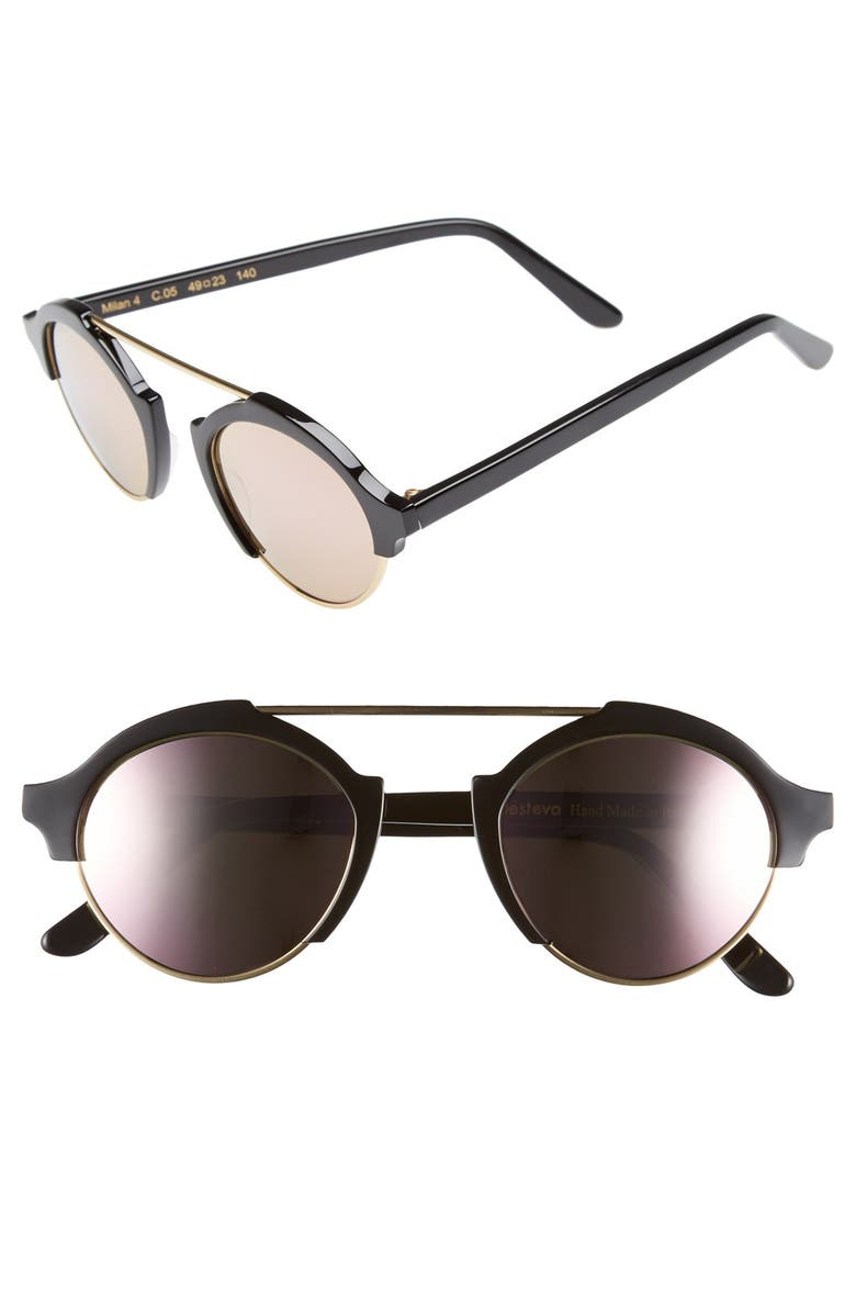 ILLESTEVA 'Milan IV' 49mm Sunglasses, Main, color, 001