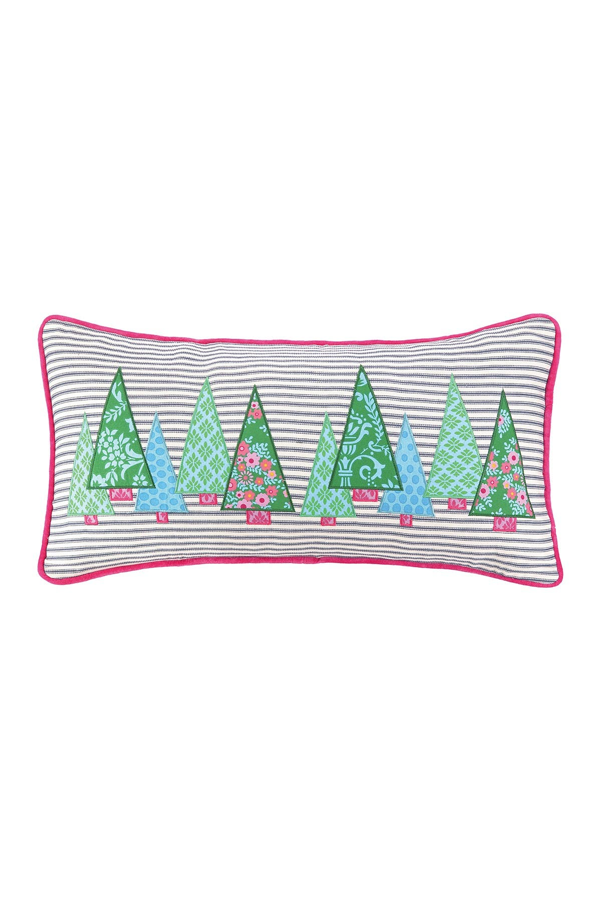 Image of Peking Handicraft Holiday Ticking Forest 14x26 Pillow