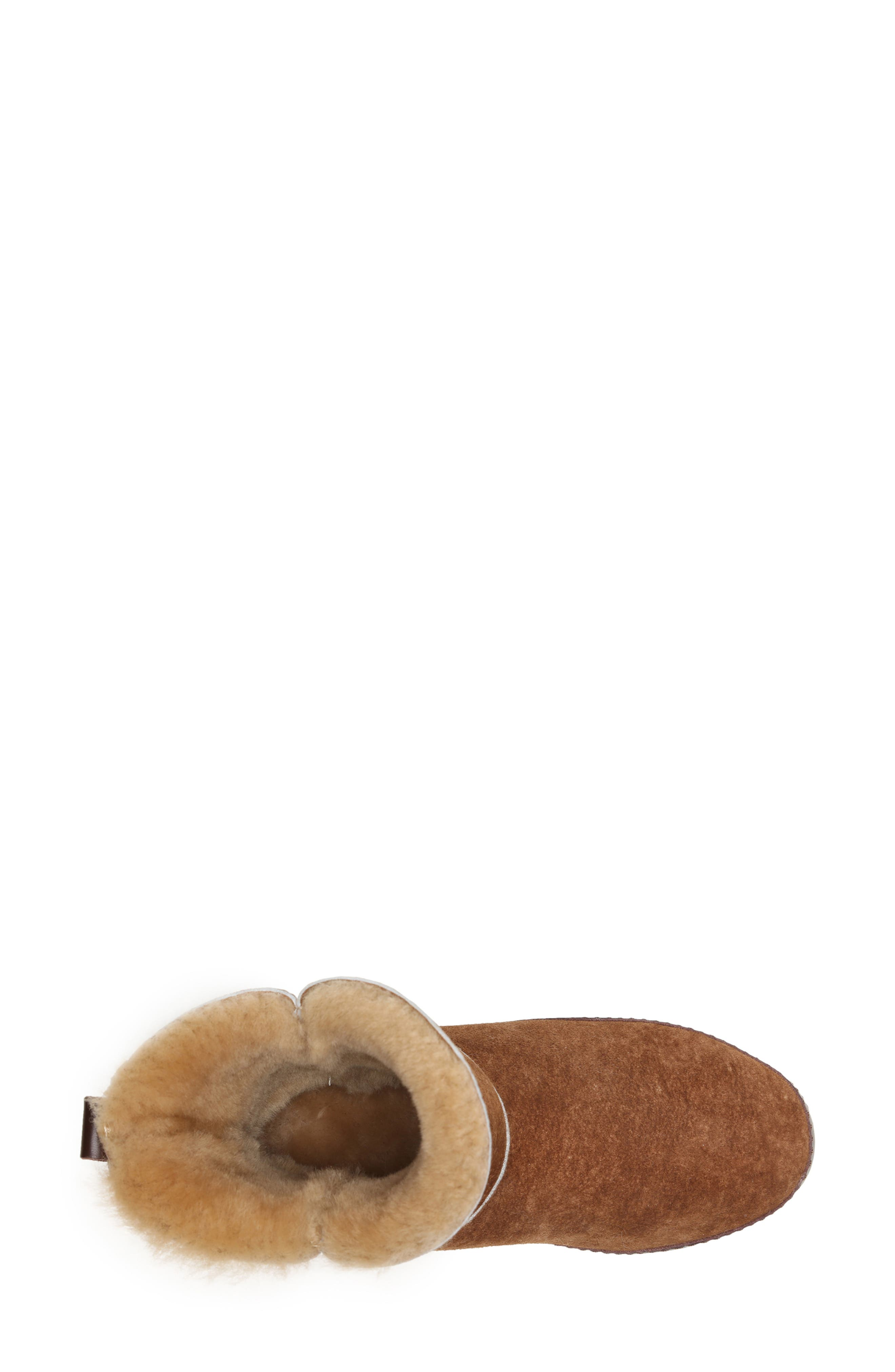 ,                             Gemma Genuine Shearling Slipper Bootie,                             Alternate thumbnail 4, color,                             STONE WASHED COGNAC
