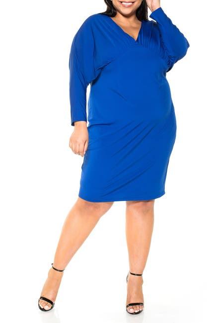 Image of Alexia Admor Christine Draped Dolman Sleeve Sheath Dress