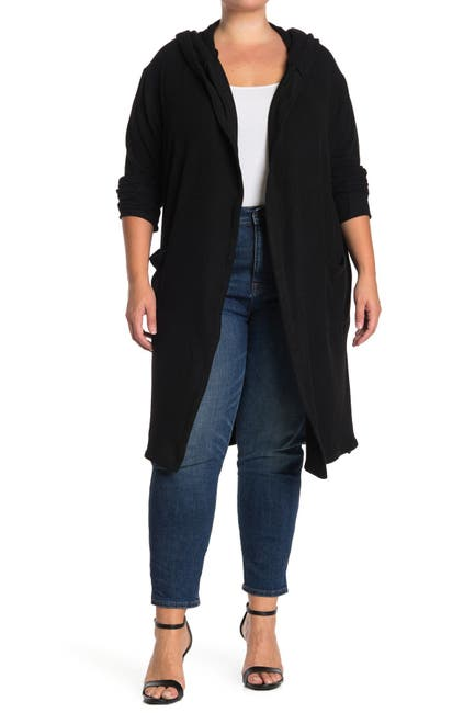 Image of Sweet Romeo Long Hooded Duster Cardigan