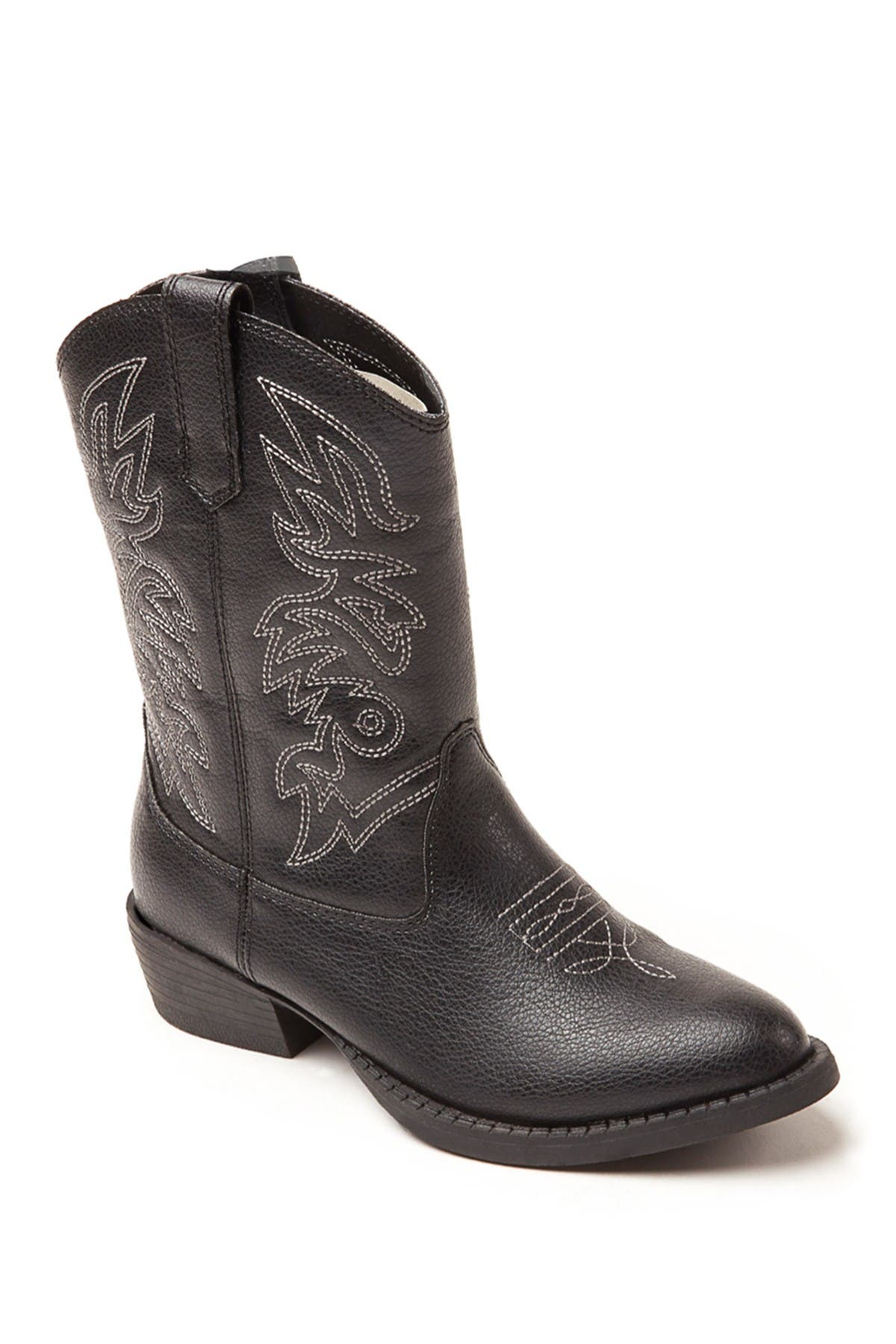 Image of Deer Stags Ranch Embroidered Stitched Cowboy Boot