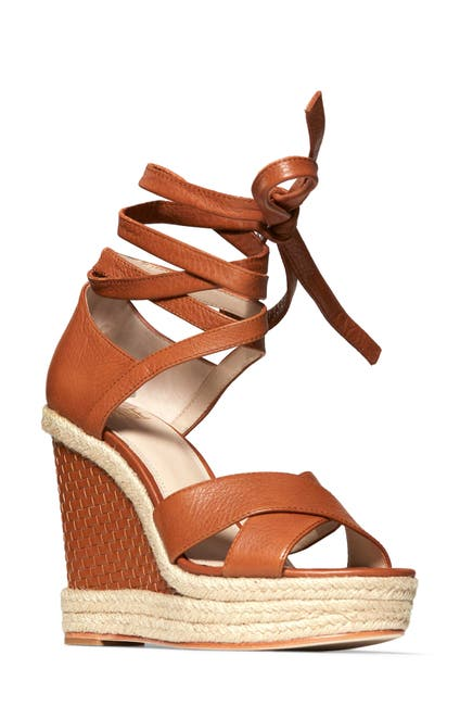 Image of PAIGE Talia Wedge Ankle Wrap Sandal