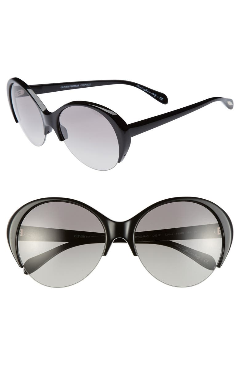 OLIVER PEOPLES 'Colline' 59mm Sunglasses, Main, color, 001