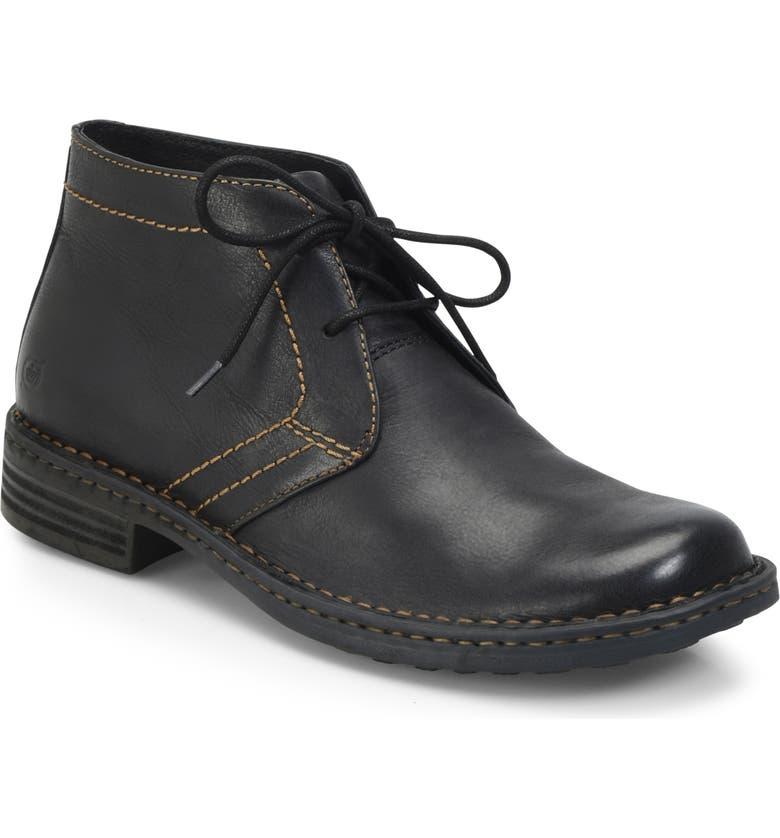 BØRN 'Harrison' Chukka Boot, Main, color, BLACK LEATHER