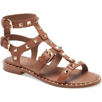 Ash Pacific Studded Strappy Sandal, Green