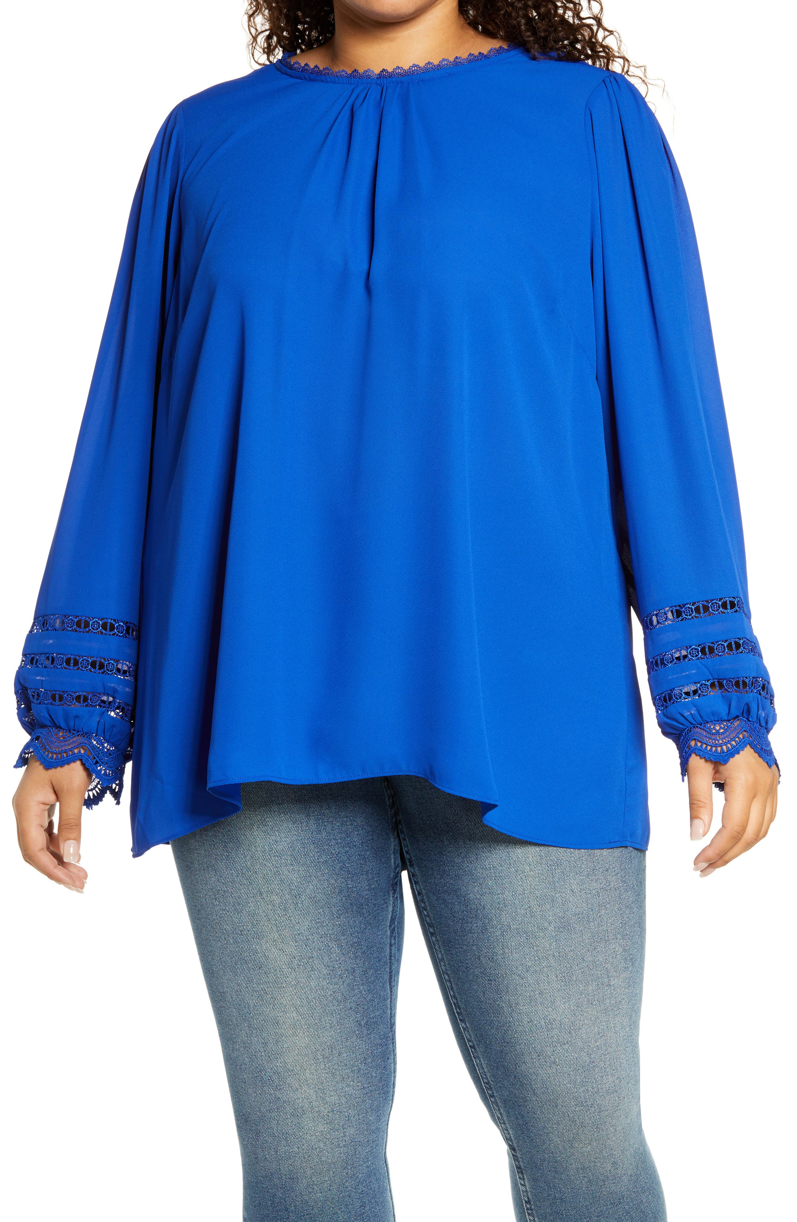 Lace Desire Blouson Sleeve Top