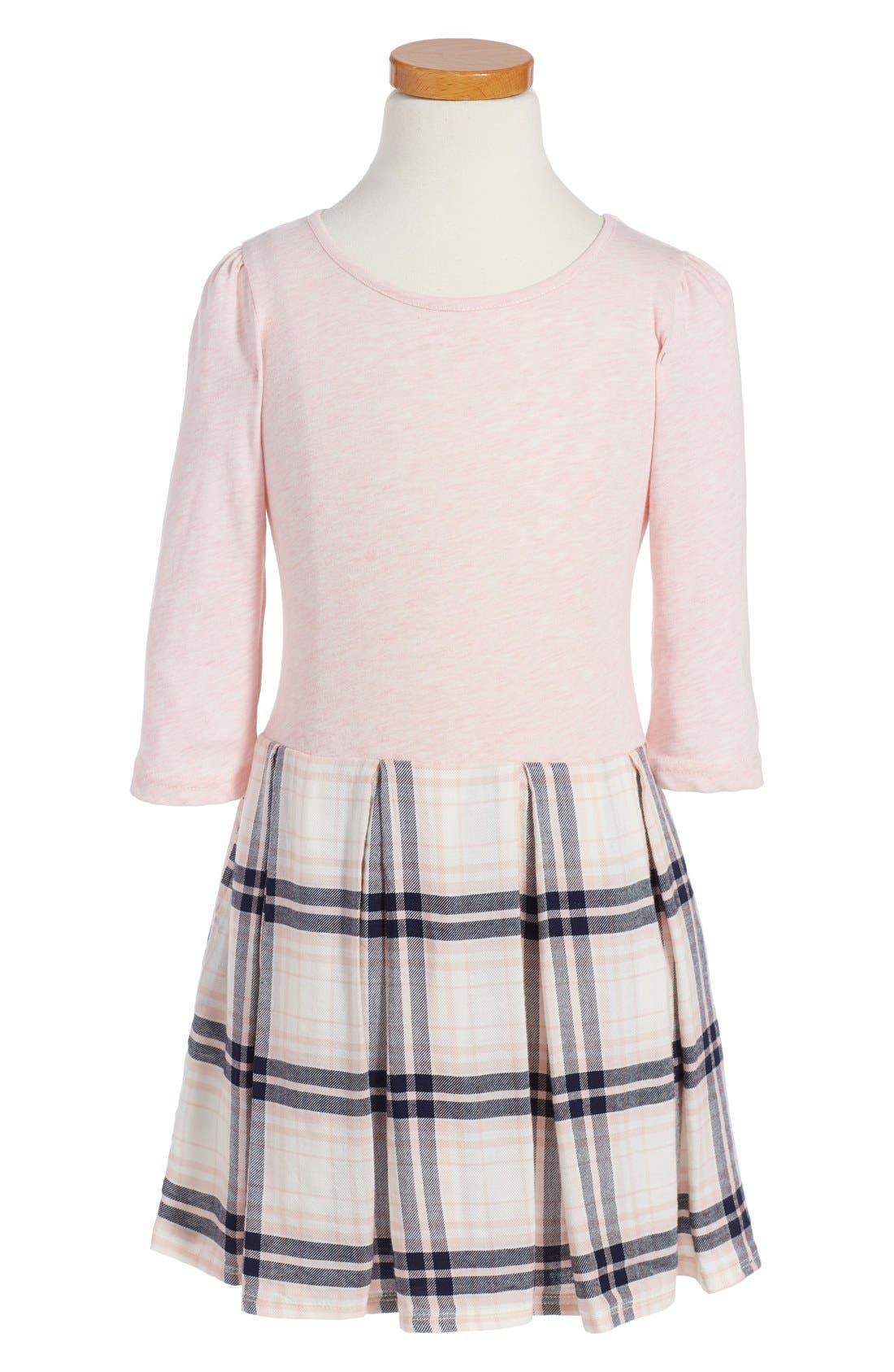,                             Pleated Knit Dress,                             Main thumbnail 4, color,                             680