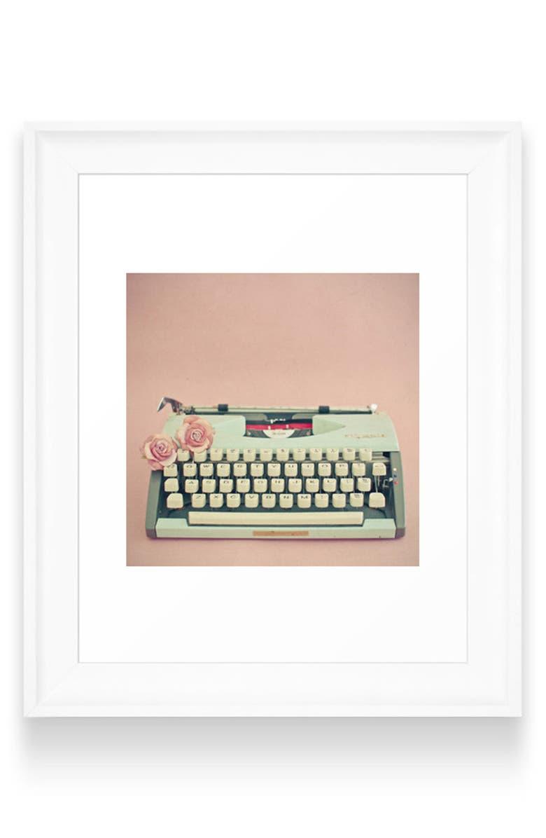 DENY DESIGNS Love Letter Art Print, Main, color, WHITE FRAME