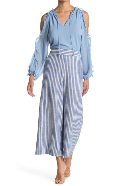Image of 1.State Riviera Stripe Wide Leg Jeans