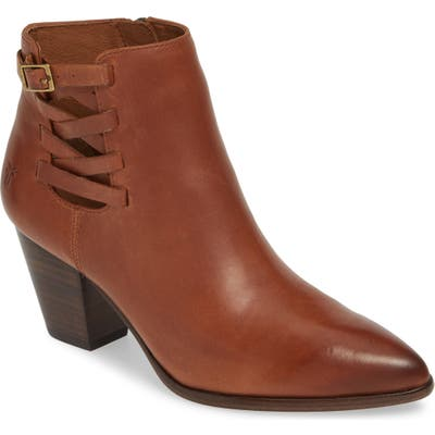 Frye Reed Strappy Bootie- Brown