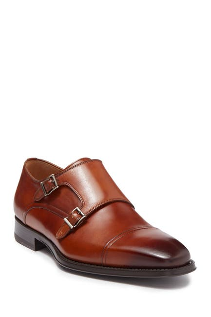Image of Magnanni Silvio Leather Double Monk Strap Loafer