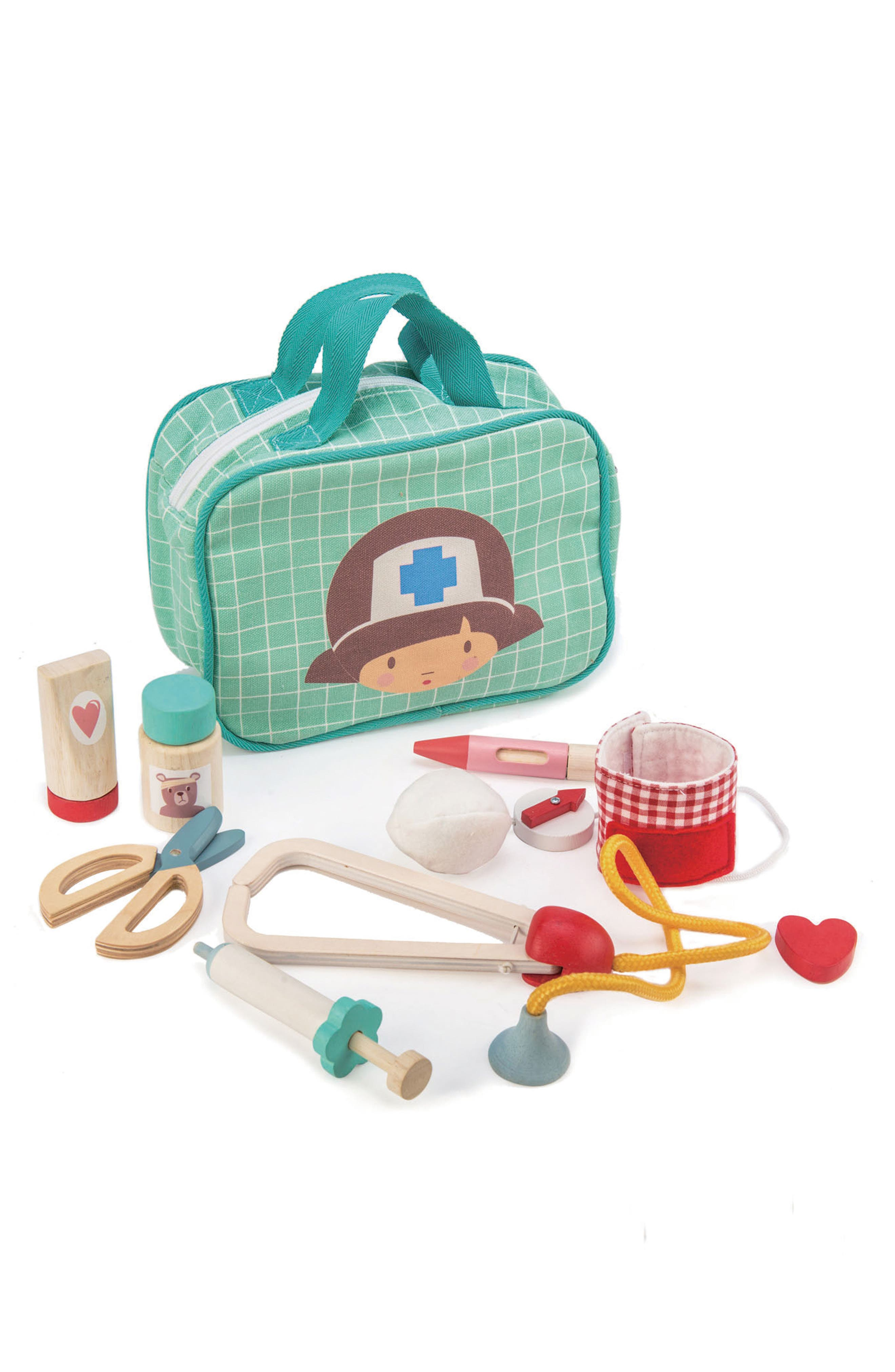 Aspiring medical professionals are sure to love practicing with this cheery set that includes a tote bag to keep everything together. Style Name: Tender Leaf Toys Medical Toy Set. Style Number: 5940638. Available in stores.