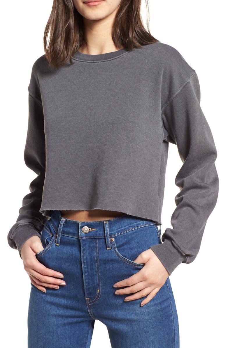 SUB_URBAN RIOT Gigi Crop Sweatshirt, Main, color, 030