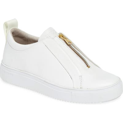 Blackstone Rl62 Zip Front Sneaker, White