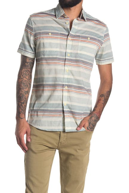 Image of Grayers Charleston Horizontal Stripe Regular Fit Shirt