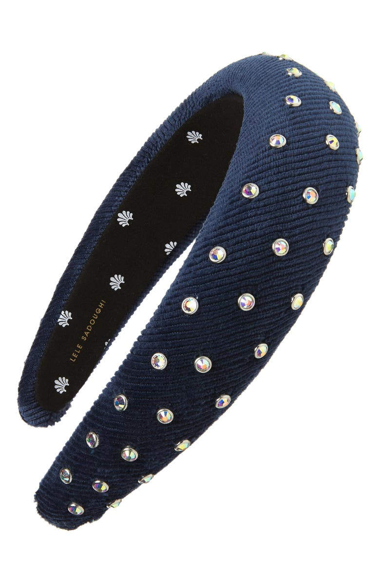 LELE SADOUGHI Crystal Embellished Padded Headband, Main, color, 400