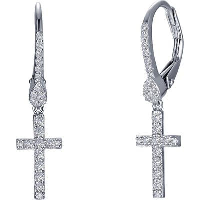 Lafonn Simulated Diamond Cross Drop Earrings