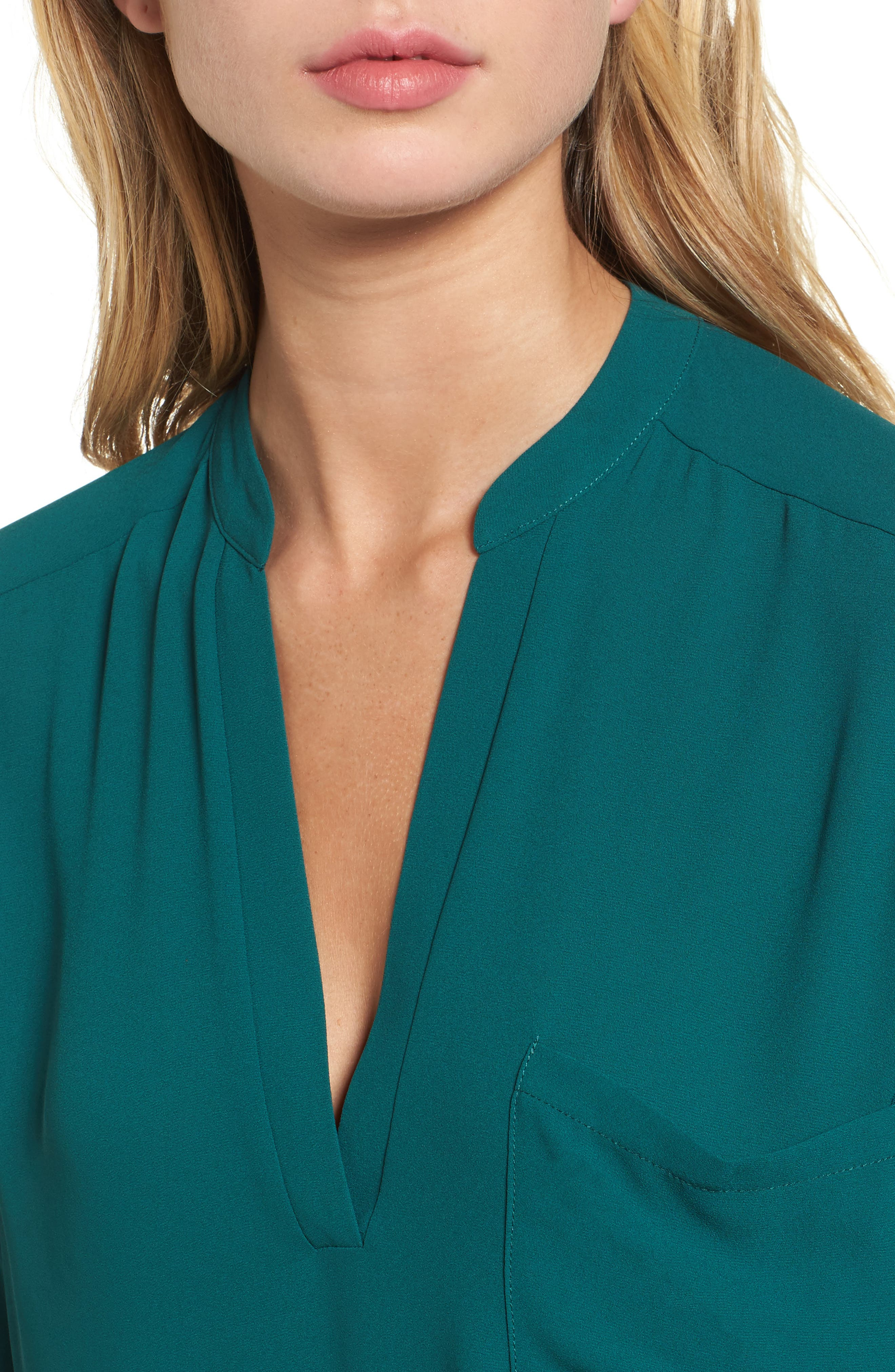 ,                             Perfect Roll Tab Sleeve Tunic,                             Alternate thumbnail 66, color,                             330