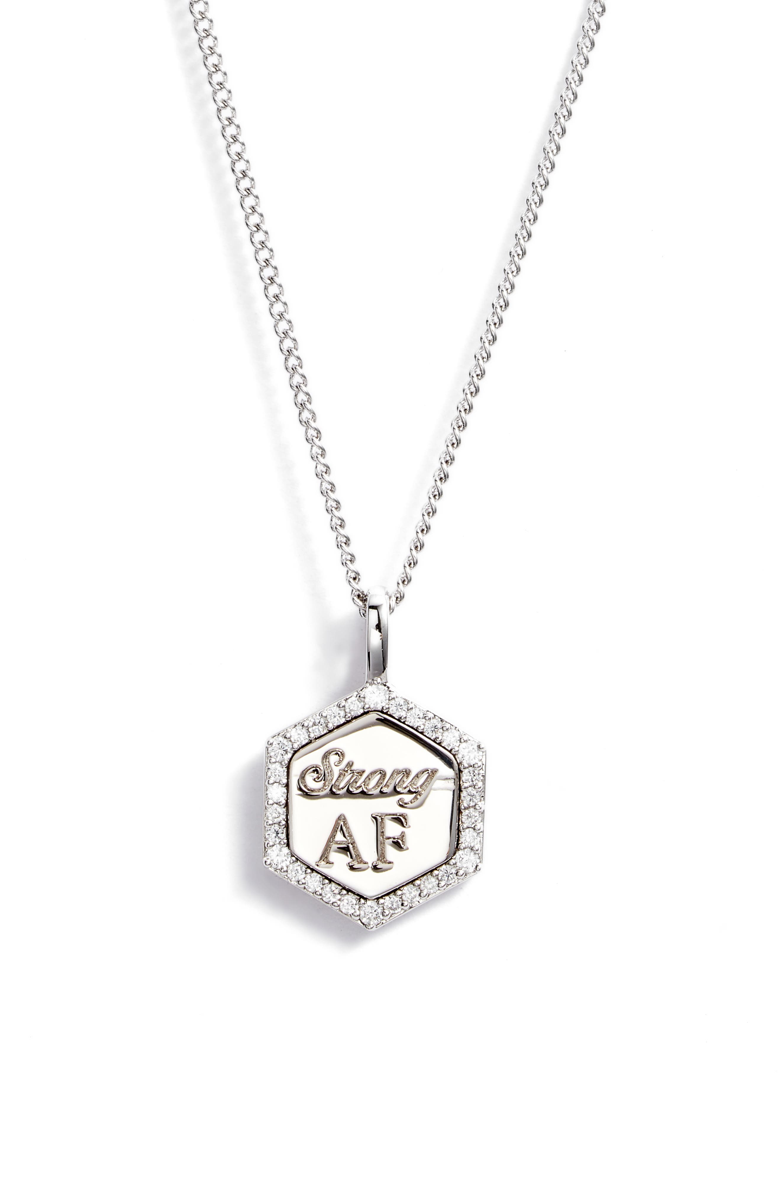 Strong Af Cubic Zirconia Pendant Necklace