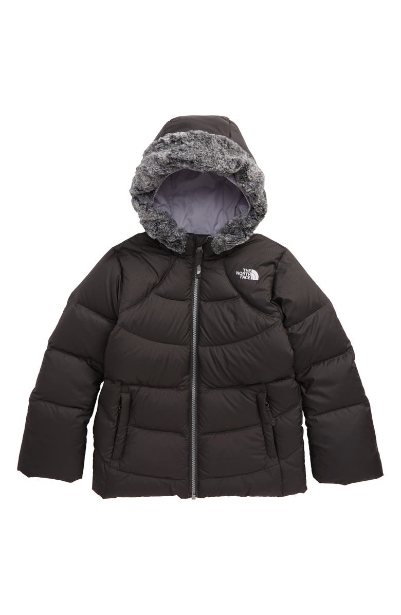 THE NORTH FACE Polar Water Repellent Down Parka, Main, color, GRAPHITE GREY