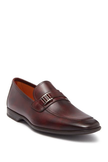 Image of Magnanni Caddy Metal Bit Leather Loafer