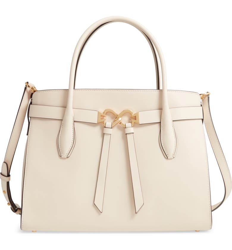 KATE SPADE NEW YORK large toujours leather satchel, Main, color, BARE